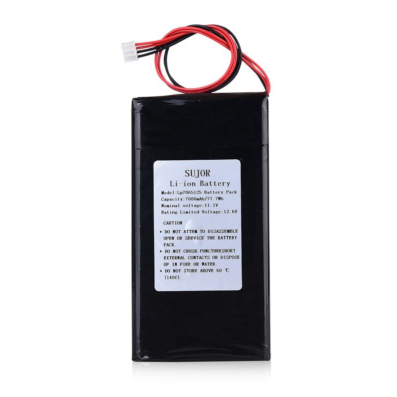 低温锂聚合物电池11.1V 7065125 7000mAh