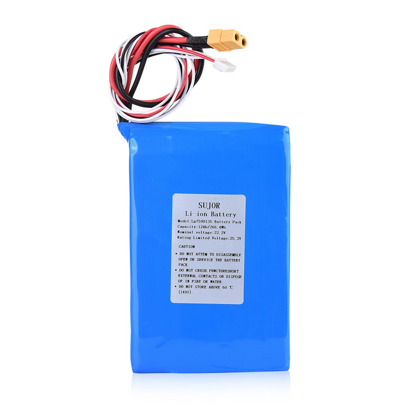 高温锂聚合物电池22.2V 7590135 12Ah
