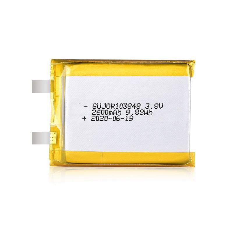 锂聚合物电池3.8V 103848 2600mAh