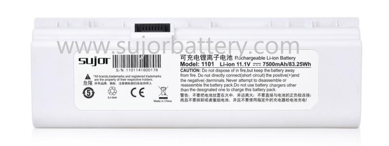 SUJOR 11.1V ICR18650 7500mAh锂电池租用于便携式B超设备