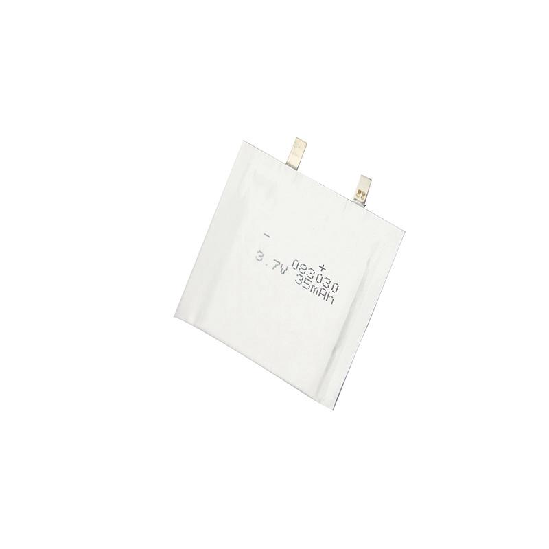 超薄锂聚合物电池3.7V 083030 35mAh