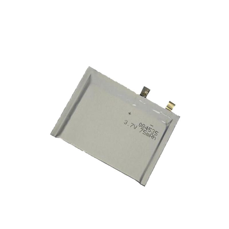 超薄锂聚合物电池3.7V 084535 75mAh