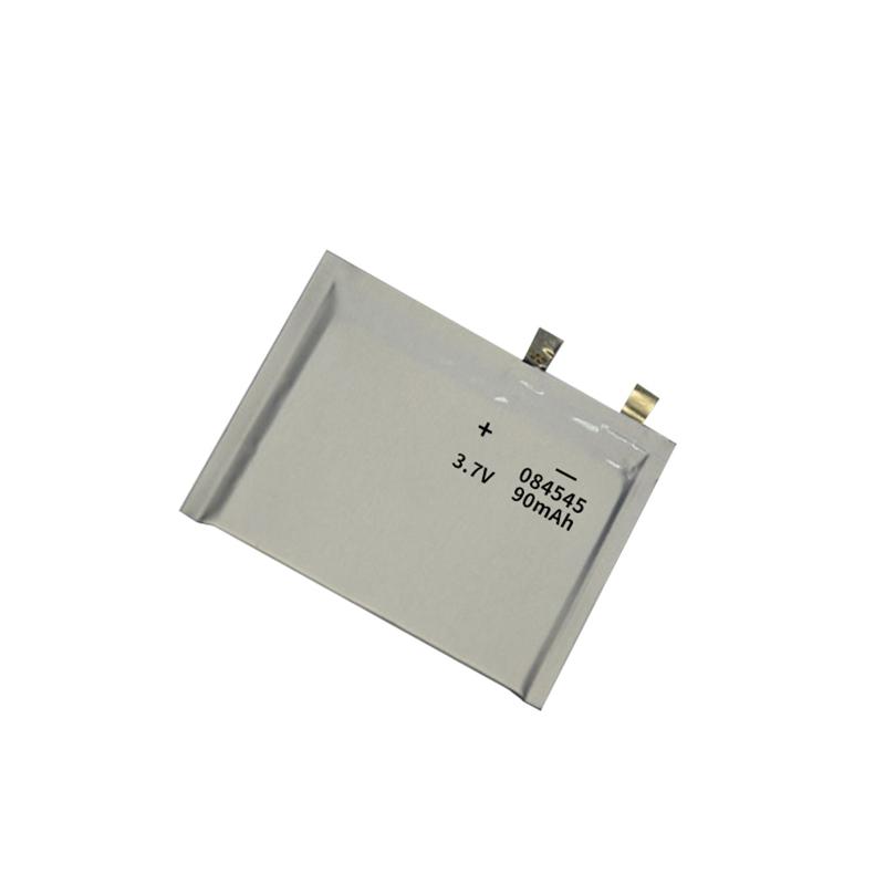 超薄锂聚合物电池3.7V 084545 90mAh