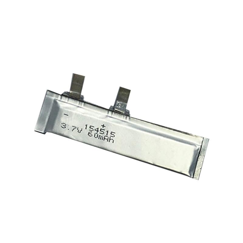 超薄锂聚合物电池3.7V 154515 60mAh