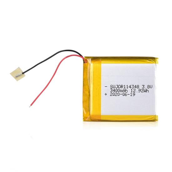 锂聚合物电池3.8V 114348 3400mAh