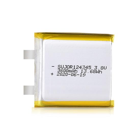 锂聚合物电池3.8V 124345 3600mAh