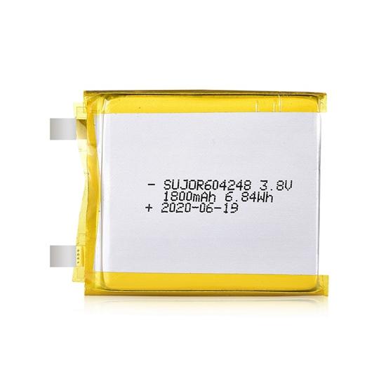 锂聚合物电池3.8V 604248 1800mAh