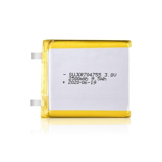 锂聚合物电池3.8V 704755 2500mAh