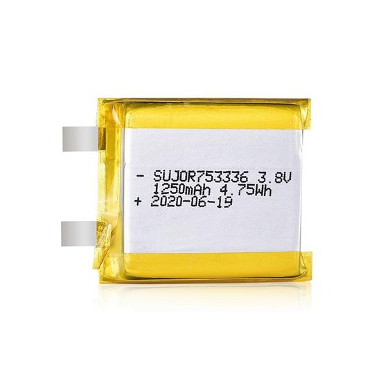 锂聚合物电池3.8V 753336 1250mAh