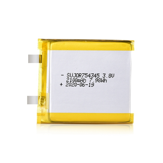 锂聚合物电池3.8V 754345 2100mAh