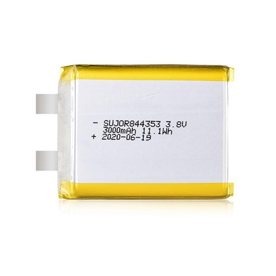 锂聚合物电池3.8V 844353 3000mAh