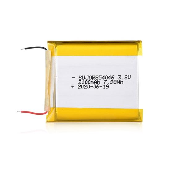锂聚合物电池3.8V 854046 2100mAh