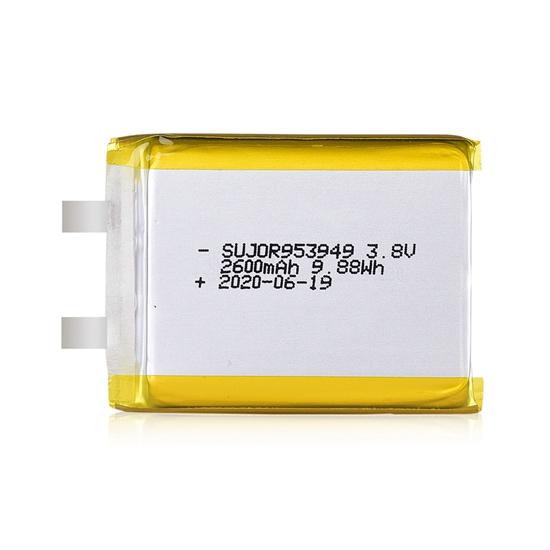 锂聚合物电池3.8V 953949 2600mAh